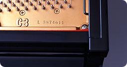 機種名・製造番号の確認方法 グランドピアノ